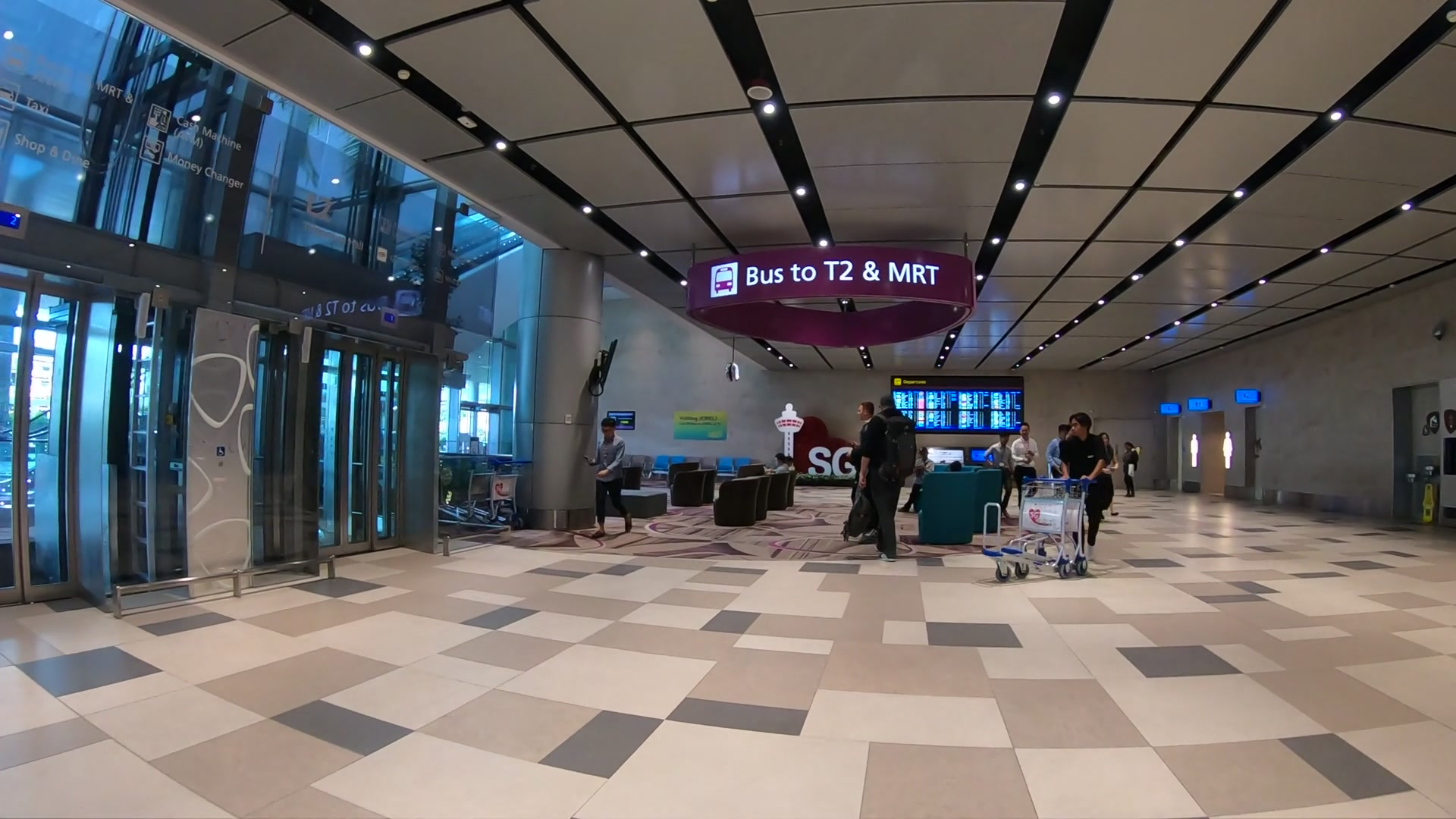 チャンギ国際空港(Changi Airport) MRT 乗り場