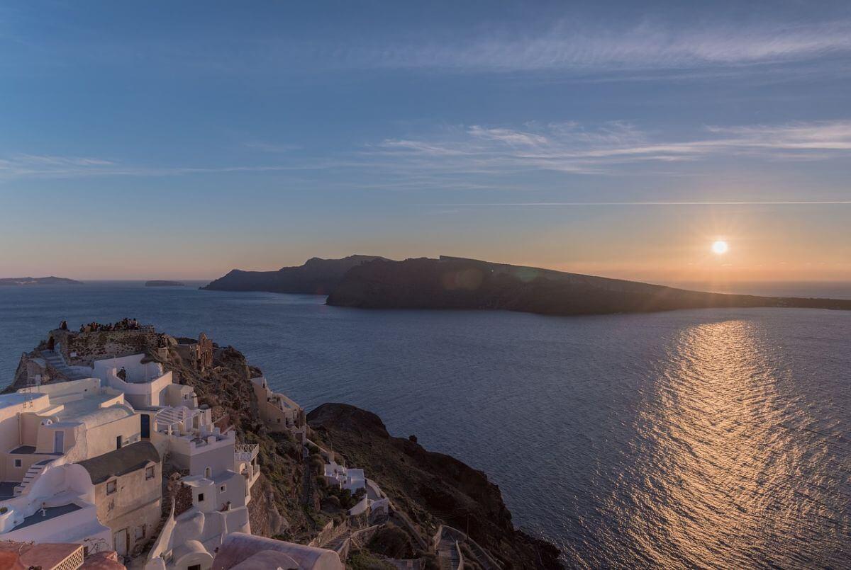 卒業 海外旅行 ギリシャ イアの古城 Oia Castle
