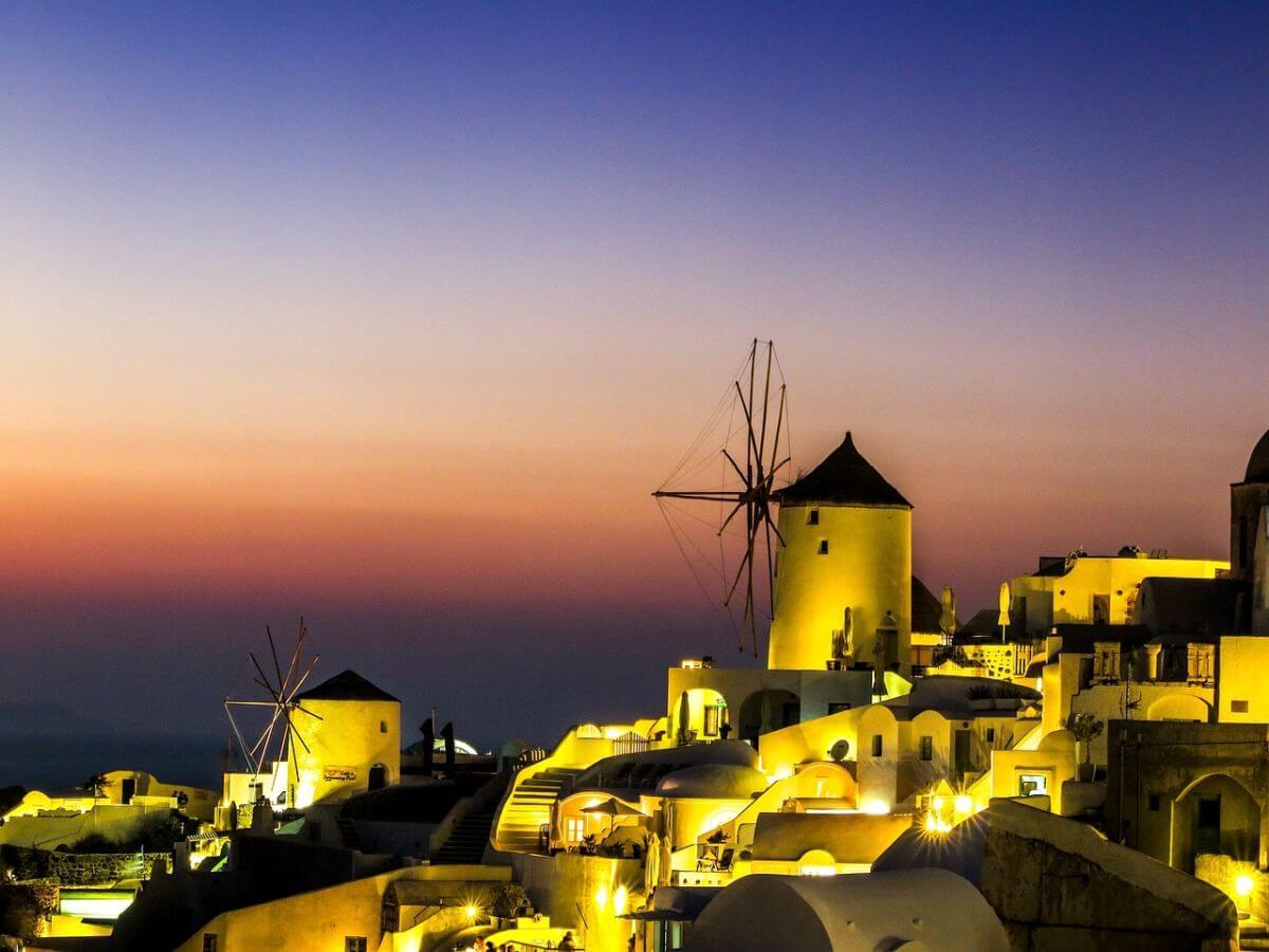 卒業 海外旅行 ギリシャ サントリーニ島