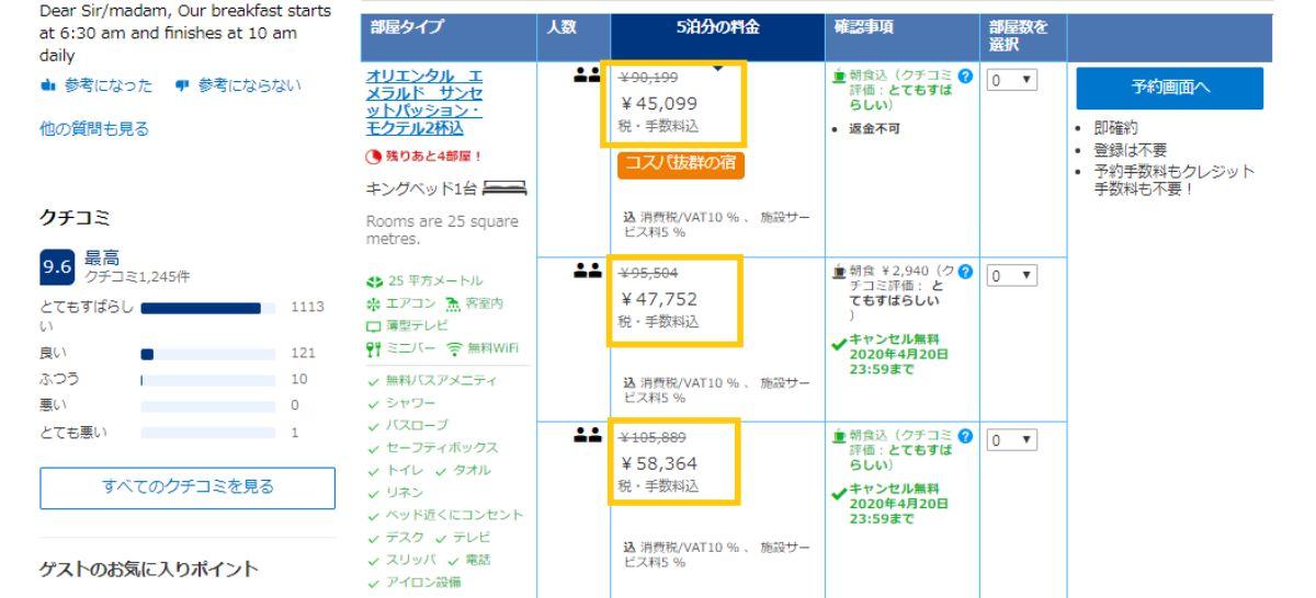 Booking.comカード ブッキングドットコム おすすめ 価格 比較