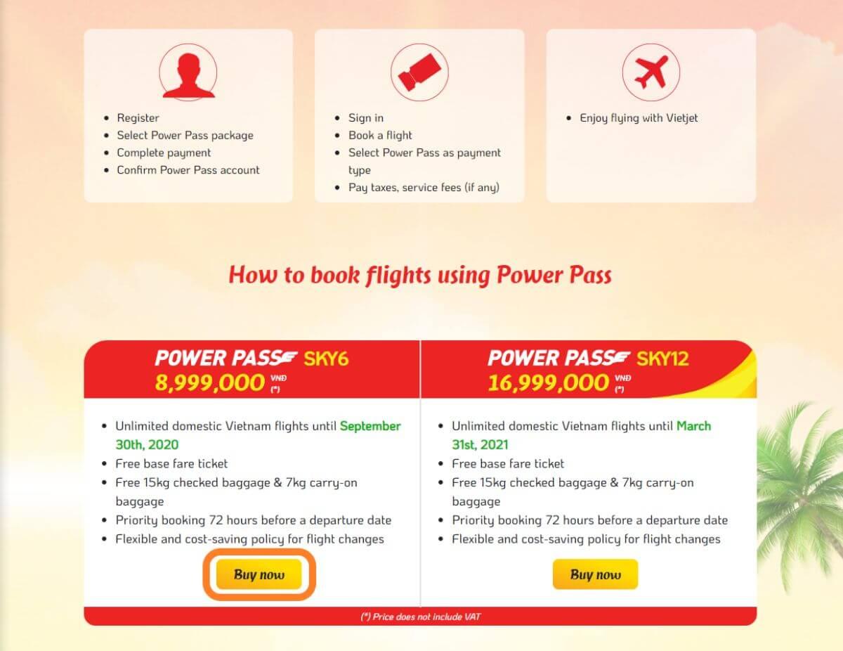 Vietjet ベトジェット POWER PASS 登録方法
