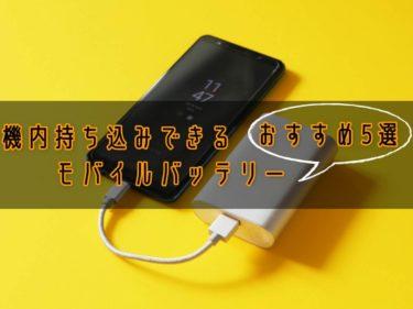 【Amazon人気】機内持ち込みできるモバイルバッテリー 【おすすめ5選】