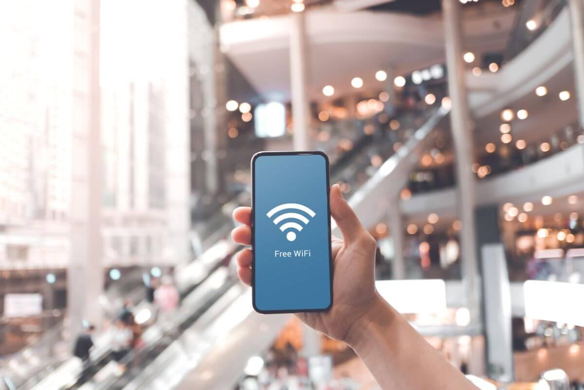 Free Wifi ショッピングモール